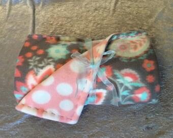 Paisley & Flower baby blanket