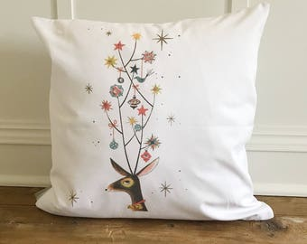 Mid Mod Deer Pillow Cover