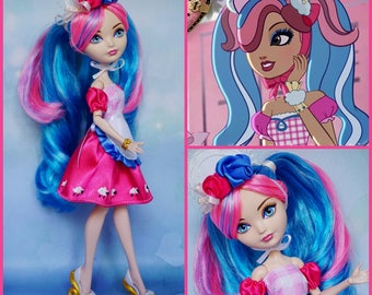 Lilly Bo Peep inspired outfit  -  Ever After High OOAK handmade 1/6 doll clothes
