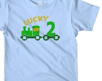 Lucky two, St Patricks day birthday shirt boys, two birthday shirt boy, st pattys day birthday shirt, Saint Patricks day birthday shirt,