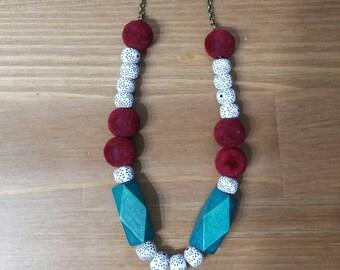 wood Dominoes necklace | שרשרת דומינו