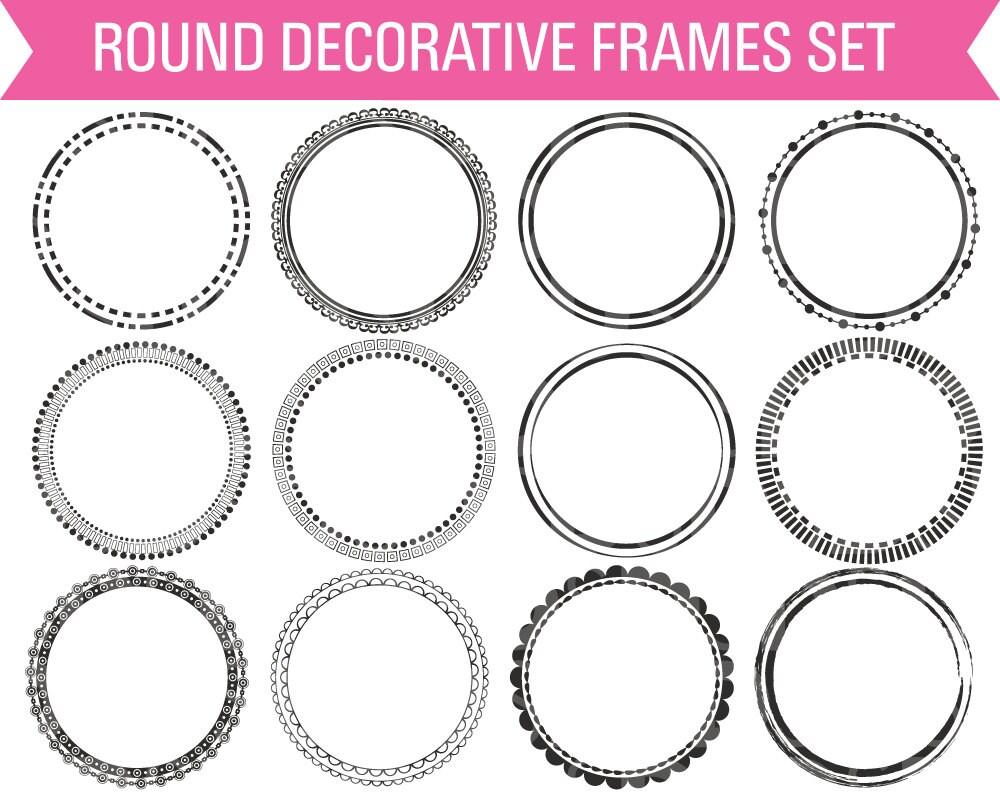 Round Digital Frames Circle Digital Frame Frame Clipart