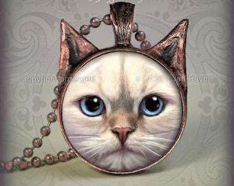 RD4 Buff Ragdoll Cat pendant