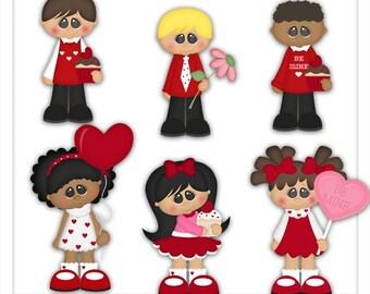 DIGITAL SCRAPBOOKING CLIPART - Valentine Sweeties