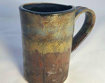 Blue/Green/Rust Mug - Large