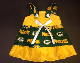 NFL Green Bay Packers Baby Infant Toddler Girls Dress  You Pick Size