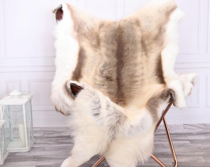 Reindeer Hide | Reindeer Rug | Reindeer Skin | Throw XL LARGE - Scandinavian Style #0RE12