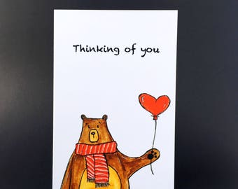 Thinking of You bear card