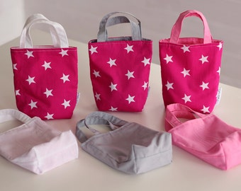 Pink Star Party Bags - Set of 6