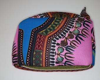 Makeup Bag, toiletries, cosmetic bag, travel pouch, African, dashiki, makeup zipper pouch, sleepover pouch, lipstick pouch, powder room, Spa