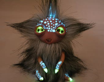 Yeti Handmade - Ariana. Lovely monster wants to live in new house ... Wants to celebrate Christmas with you. Clay Living Doll High Quality.