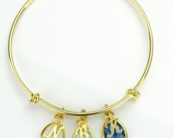 Bracelet for mom, Personalized Birthstone bangle bracelet family bracelet stacking bangle initial bangle mothers bangle, adjustable bangle