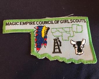 American Girl Scouts Magic Empire - Council Badge - Oklahoma - rare - badge - patch