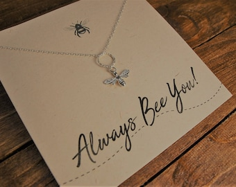 Sterling Silver Bee Necklace//Bee Necklace//Silver Bee//Bee Jewellery//Sterling Silver Necklace