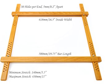 """500mm (19.75"""") Wooden Embroidery Slate Frame, made from European Beech for Hand Embroidery, Cross Stitch and other Needlework"""