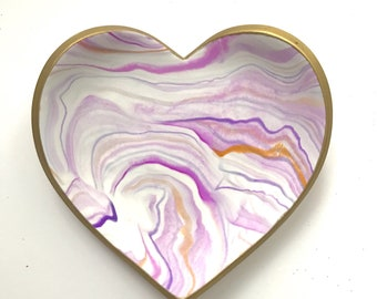 Jewelry Storage | Marbled Clay not Ceramic Dish | Trinket Dish | Ring Dish | Jewelry Dish | Gift under 20 | Mother's Day Gift | Gift for Her