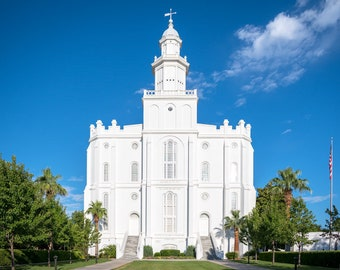 Saint george temple etsy front of the st george utah temple reheart Image collections