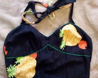 Genuine Vintage Pineapple Ruffle Dress