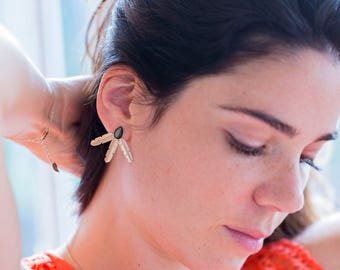"Gold filled earrings / Boucles d'oreille / Handmade / Chic boho ideal gift - ""Mini Siou"" by Lily Garden"