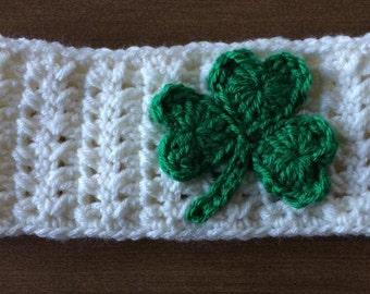 St. Patrick's Day Ear Warmer cream