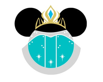 Minnie Elsa svg, Frozen svg, Elsa svg, disney princess svg, disney svg, cartoon svg,svg file for cricut, silhouette, svg files, svg