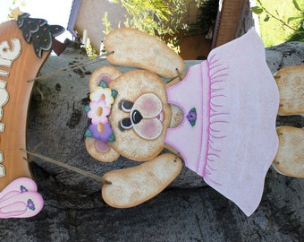 "Ballerina Outfit  - Wooden ""Seasonal Bear n Friends"" Outfit- Interchangeable Outfit"