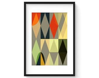 ENTWINE no.4  - Geometric Mid Century Modern Abstract Art Print