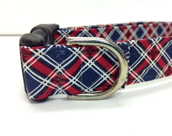 Dog Collar- The Patriotic Plaid