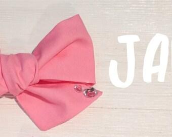 The James-Large bow- bow headband-photography- fabric bow- headband
