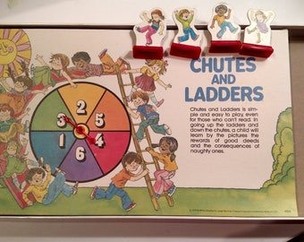 Vintage 1978 Chutes and Ladders board game. Milton Bradley. Complete, Retro Board Game, Kid gifts, 70's, Holiday gift