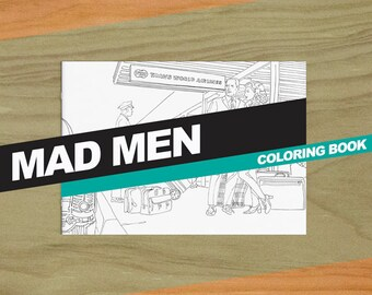 Mad Men Inspired Colouring Book