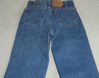 Vintage Levi's 536 size 12 Regular 24 x 25 orange trademark tab  rare jeans    #52