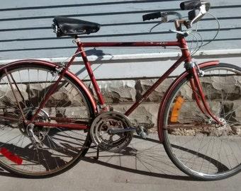 Vintage, Schwinn, Bike, Mens, Chicago, Suburban, Chestnut, 10 Speed, Bicycle, Sporting Goods, Photography Prop, RhymeswithDaughter