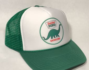 Sinclair Gas Station Trucker Hat Vintage  Mesh Snapback Cap! Gasoline Oil Advertising Globe Lid! Green Round Logo