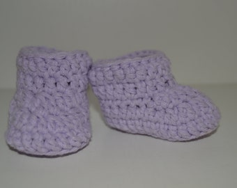 Сrochet baby booties, Gender neutral baby bootees, Unisex baby shoes