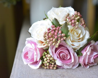 Exquisite Rose Bunch in pink/white -ITEM007