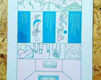 Arthur Russell A3 risograph print #1