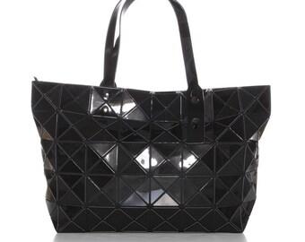 Geometric bag, handle bag, geometric black handbag, tote bags, black bag, black handbag, casual handbag, black bag with handles