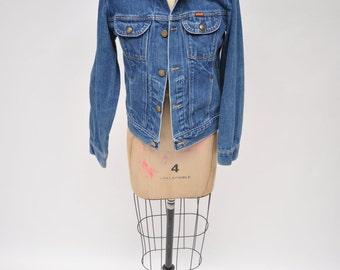 vintage denim jacket oversized RUSTLER jean jacket boyfriend fit