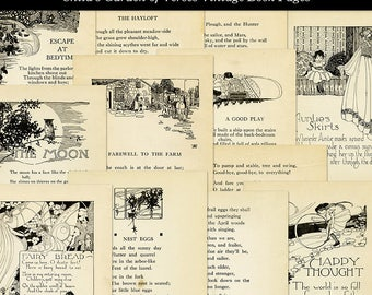 Robert Louis Stevenson Child's Garden of Verses Vintage Printable Aged Book Pages Digital Download JPG Format
