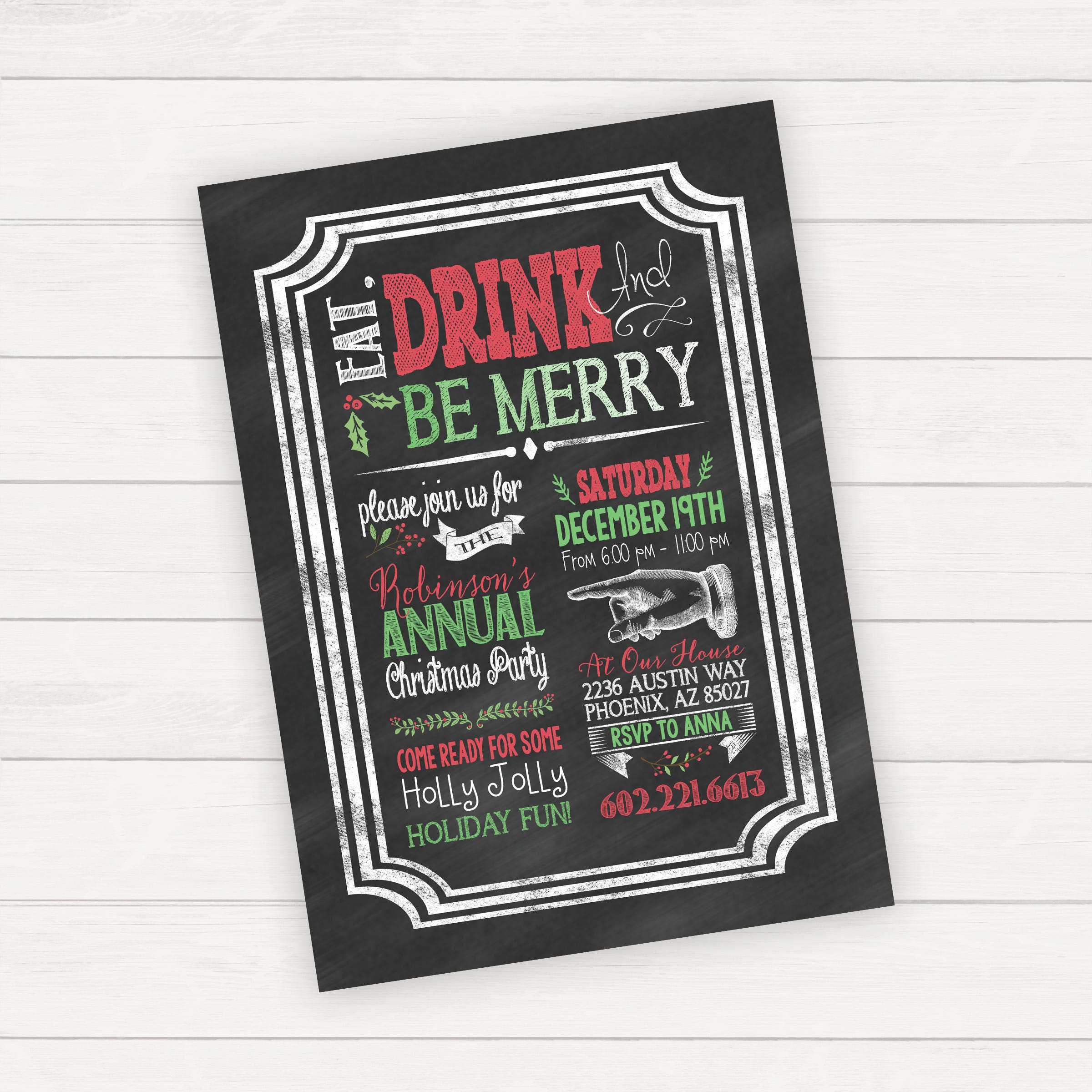 Christmas party invitations Christmas party invite holiday