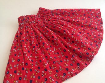 DARLING vintage elastic waist floral pleated skirt by Her Majesty size 2-3-4 years
