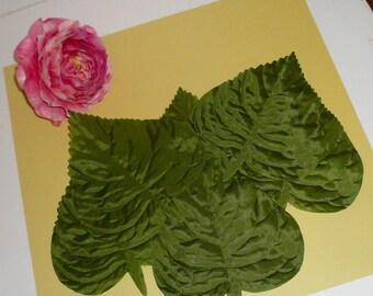 Millinery Floral Silk Leaves Wedding Wreaths Crafts Decorating DIY Hatmaking Large Palm Leaf By VintageStudioSupply
