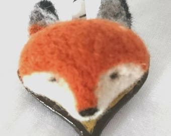 Mounted Felted Foxicorn Broach