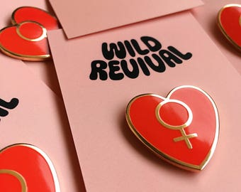 Female Empower Pin — feminist pin, feminist enamel pin, enamel pin feminist, enamel lapel pin, girl power pin, the future is female