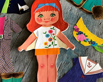Vintage Amy Magic Doll with Stay-On Clothes.  1968 Paper doll by Whitman |  Amy Magic Doll