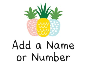 Add additional lettering to the back of a shirt:  NAME and/or NUMBER