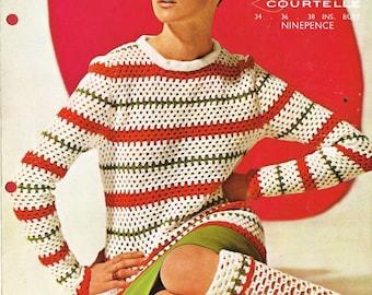1675Li ladies jumper crochet  summer wear  for ladies vintage pattern PDF instant download
