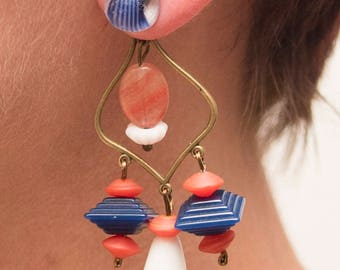 Nautical lantern earring jackets