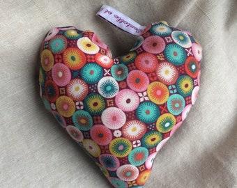 Cuddly plush heart